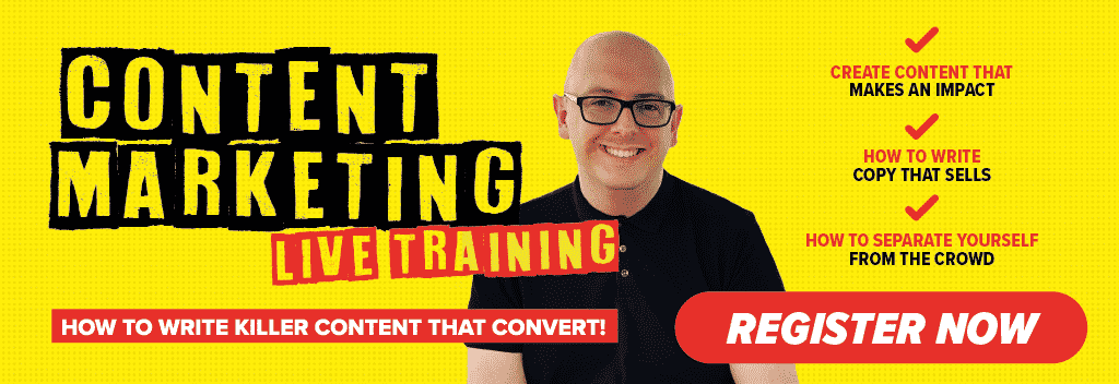 content marketing live training for business growth